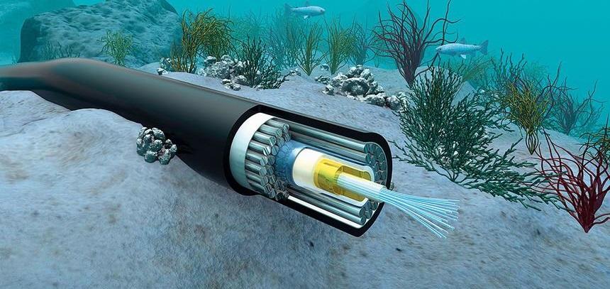 Оптоволоконный кабель для морского дна